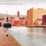 Postcard from Marshall Wells Slip and Building
