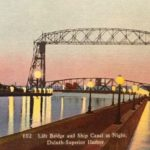 Postcard from the Aerial Lift Bridge at Night