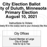 Duluth 2021 Primary Election Sample Ballot